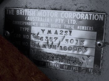 Front stamped identification plate