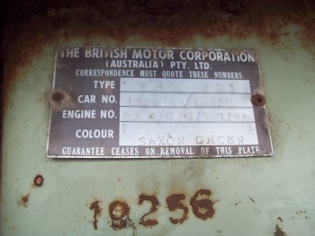 Car Number - Below Plate