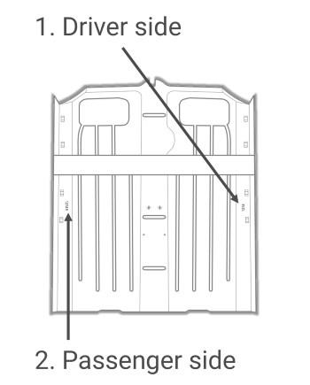 Car Number- Rear Floor